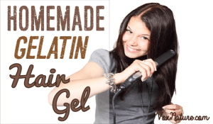 Homemade Gelatin Hair Gel