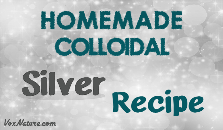 Colloidal silver is one of the few alternative medicines that has been able to stick it ou Homemade Colloidal Silver Recipe