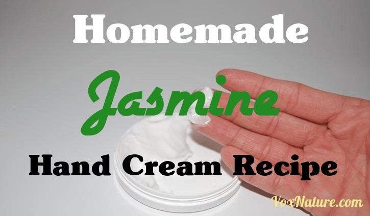 My hands can get pretty rough and dry during the  Homemade Jasmine Hand Cream Recipe