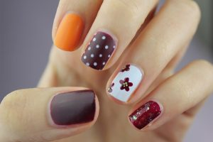 polish nails nailart